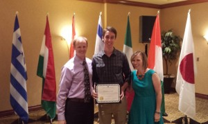 Ben receiving Cru Commissioning certificate Sep 13 2014